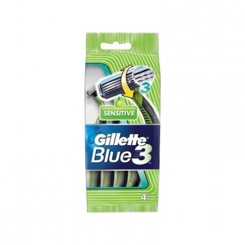 Gillette Blue 3 Sensitive ξυραφάκια (4 τεμάχια)
