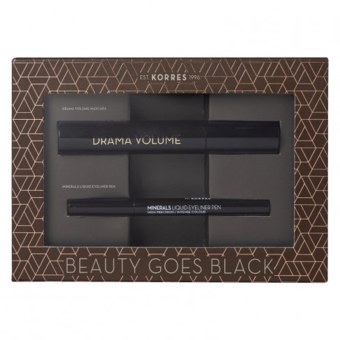 Korres Beauty Goes Black σετ Drama Volume Mascara & Korres Minerals Liquid Eyeliner Pen ΓΥΝΑΙΚΑ