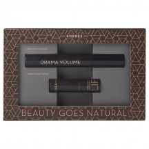 Korres Beauty Goes Natural set Drama Volume Mascara Black 11ml & Morello Creamy Lipstick 23 Natural Purple
